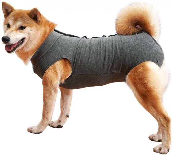 Dog Recovery Suit Abdominal Wound Protector Puppy Medical Surgical Clothes Post-Operative Vest Pet After Surgery Wear Substitute E-Collar & Cone