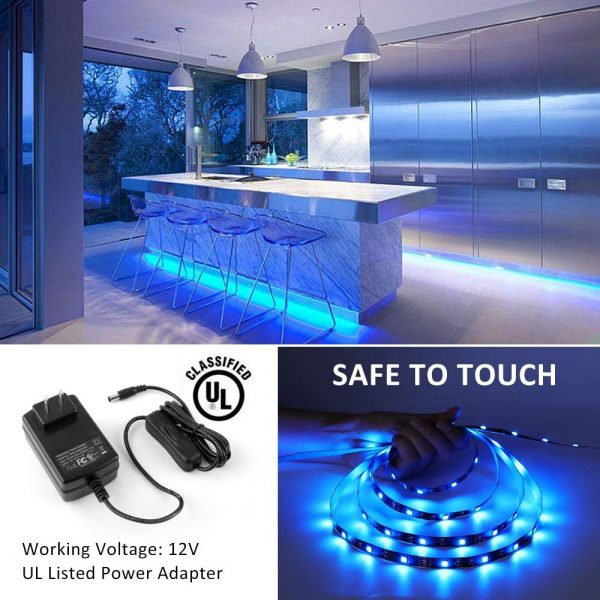 Novostella 40ft RGB LED Strip Light kit, Flexible Color Changing 360 Units SMD 5050 LEDs, 12V LED Tape with 44 Key RF Remote, Dimmable LED Ribbon for Home Lighting Kitchen Bar,UL Listed Power Supply